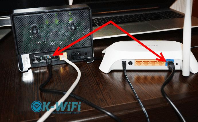 Подключение роутеров TP-Link к D-Link по сетевому кабелю