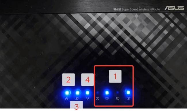 Индикаторы роутера Asus N10
