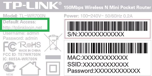 Наклей роутера TP-Link c адресов входа в личный кабинет tplinklogin.net и логином и паролем admin-admin